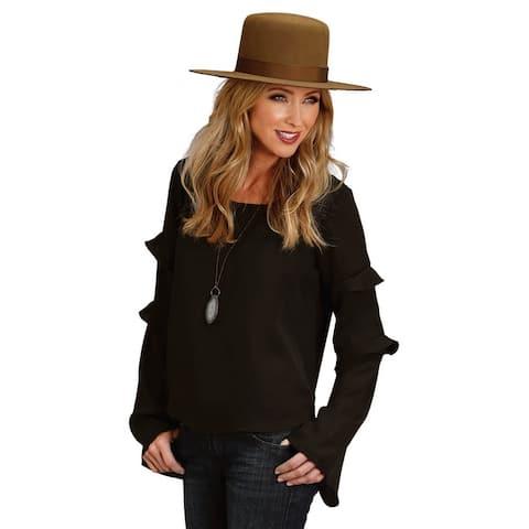 Stetson Western Shirt Womens Long Sleeve Black