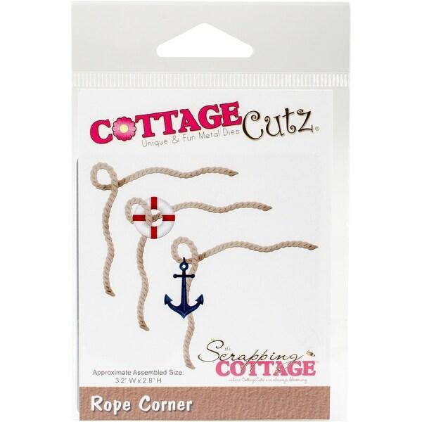 """CottageCutz Die-Rope Corner 3.2""""X2.8"""""""