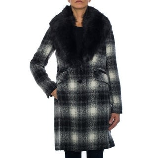 Laundry by Shelli Segal Plaid Wool Coat