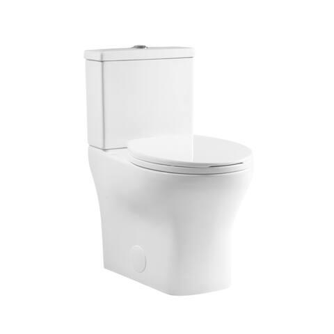 "Sublime II Compact 24"" Length Two Piece Toilet Dual Flush 0.8/1.28 GPF Elongated Bowl"