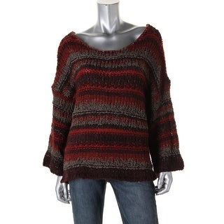 Free People Womens Crochet Elbow Sleeves Pullover Sweater - XS