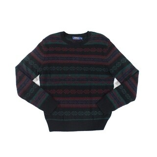 Polo Ralph Lauren NEW Black Mens Size Small S Crewneck Wool Sweater