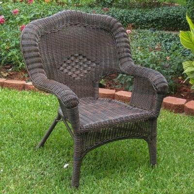 International Caravan Chelsea Resin Wicker Patio Dining Chair