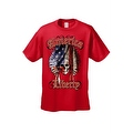 Men's T-Shirt American Liberty USA Flag Feathers Skull Native Chief Freedom Tee - Thumbnail 0