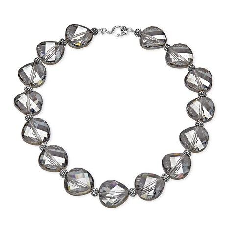 Aya Azrielant Swarovski Crystals Bead Necklace in Sterling Silver