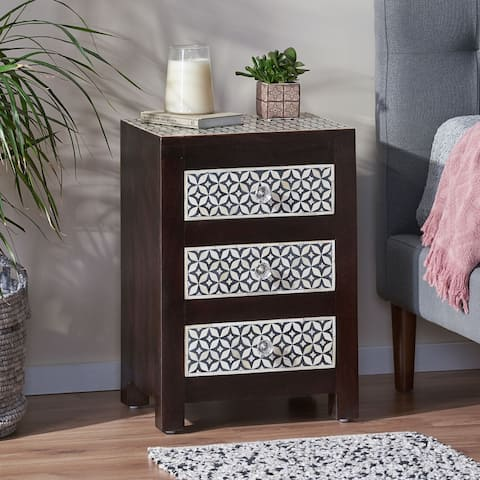 Benewah Mango Wood Nightstand by Christopher Knight Home