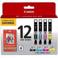 Canon CLI-251 CMYK 6513B010 Ink Cartridge