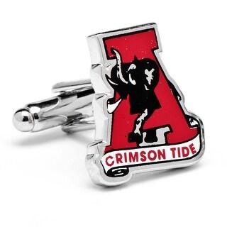 University of Alabama Crimson Tide Vintage Logo Cufflinks - Red