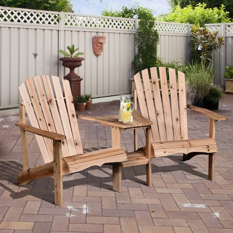 Armopa Wood Adirondack Chairs with Attached Center Table by Havenside Home