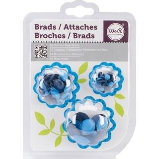 Painted Brads 54/Pkg-Blue