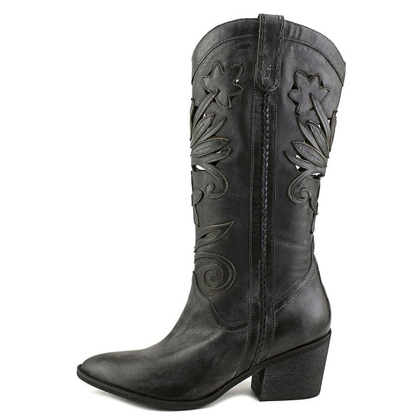Carlos by Carlos Santana Womens Ace Leather Almond Toe Mid-Calf Cowboy Boots