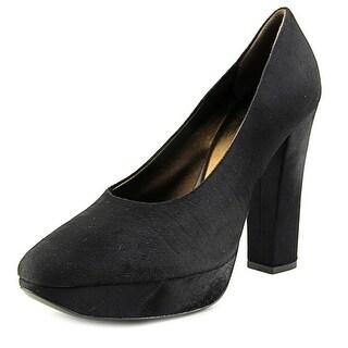 Calvin Klein Anya Women Open-Toe Suede Black Heels