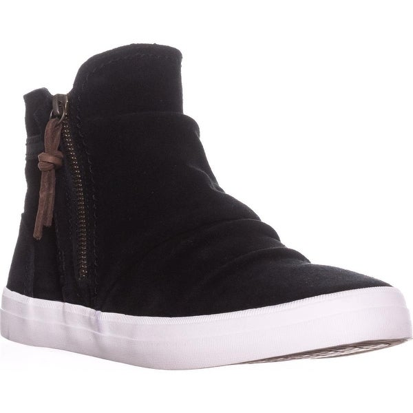 Shop Sperry Top-Sider Crest Zone Waterproof High Top Sneakers, Black Suede - Free -4303