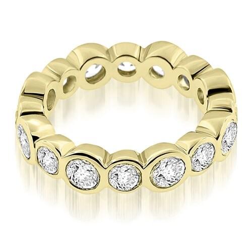 2.80 cttw. 14K Yellow Gold Stylish Bezel Set Round Cut Diamond Eternity Ring