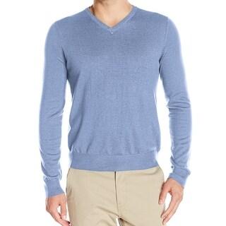 IZOD NEW Blue Ocean Mens Size XL V-Neck Long Sleeve Ribbed Sweater