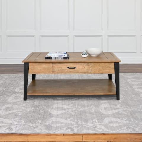 Abbyson Brant Light Brown Wood Coffee Table