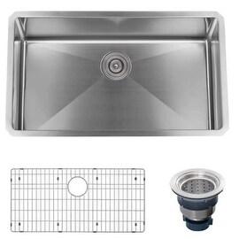 """Miseno MSS3219SR 32"""" Undermount Single Basin Stainless Steel Kitchen Sink - Drai"""