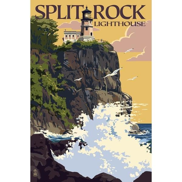 MN - Split Rock Lighthouse - LP Artwork (Poker Playing Cards Deck)