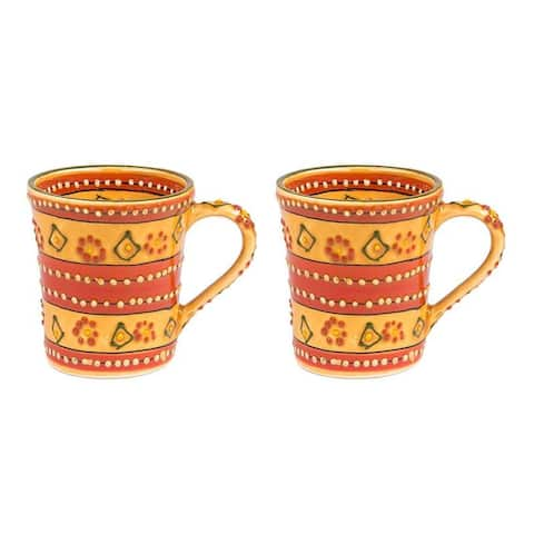 The Curated Nomad Somerset Handmade Pottery Flared Mugs (Set of 2)