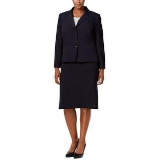 Tahari ASL Womens Plus Skirt Suit Four Button 2PC - 20W