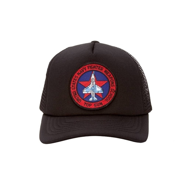 6559f4ab31e Shop US Navy Fighter Weapons School Top Gun Black Trucker Hat - Free ...