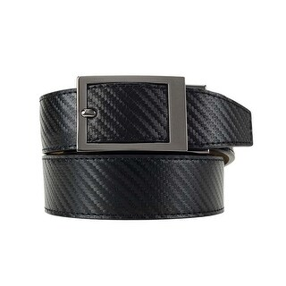 Nexbelt Classic Series Black Carbon Leather Strap Dress Belt