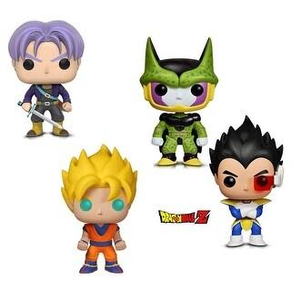 Funko Pop! Animation Dragon Ball Z - Perfect Cell, Super Saiyan Goku, Vegeta and Trunks (4 Items)