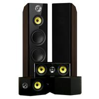 Fluance Signature Series Surround Sound Home Theater 5.0 Channel System with Bipolar Speakers - Walnut (HF50WB)