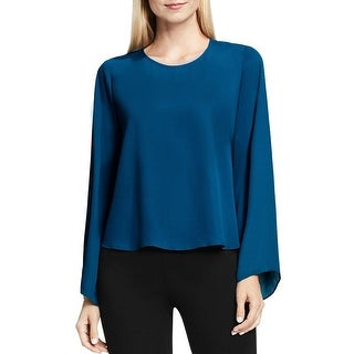 Vince Camuto Womens Casual Top Bell Sleeves Back Button