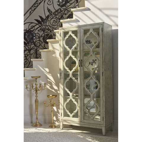 Antique White 2-door Tall Cabinet