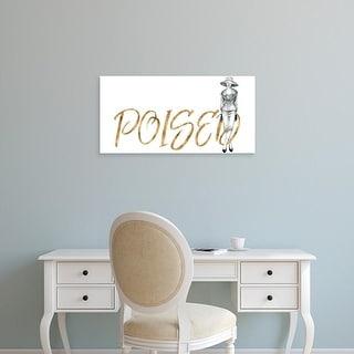 Easy Art Prints Grace Popp's 'Gilded Fashion Figures IV' Premium Canvas Art