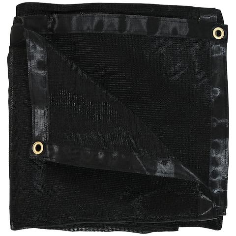 Sunnydaze 10' x 12' Multi-Purpose UV-Resistant Polyethylene Mesh Tarp - Black - 10-Foot x 12-Foot