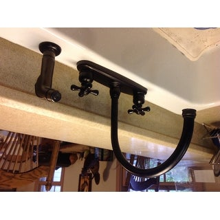 Vintage Oil Rubbed Bronze Kitchen Faucet With Sprayer