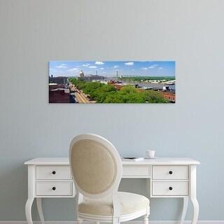 Easy Art Prints Panoramic Images's 'Savannah River, Savannah, Georgia' Premium Canvas Art