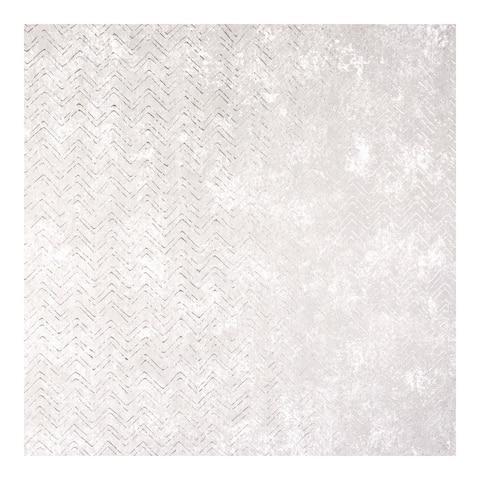 Luna Platinum Distressed Chevron Wallpaper - 27.5 x 396 x 0.025
