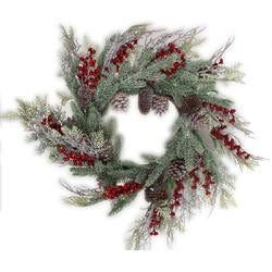 - Woodland Mix Pine Cone Berry Wreath 26""