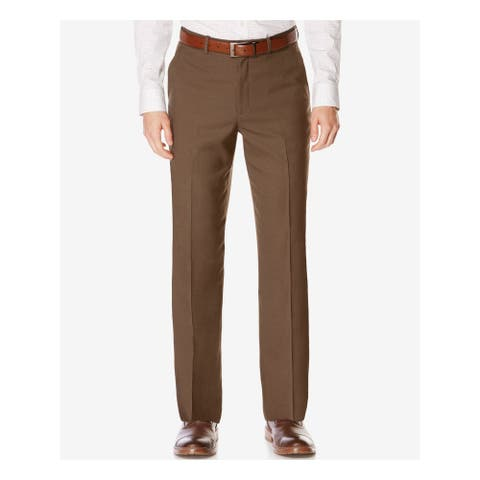 PERRY ELLIS Mens Green Check Work Pants Size 36 X 29 - 36 X 29