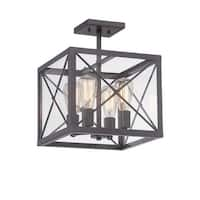Designers Fountain 87311 High Line 4 Light Semi-Flush Ceiling Fixture