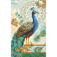 """9""""X15"""" 14 Count - Gold Collection Royal Peacock Counted Cross Stitch Kit"""