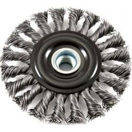 "Forney 72835 Industrial Pro Twist Knot Wire Wheel Brush, 4-1/2"" X .020"""