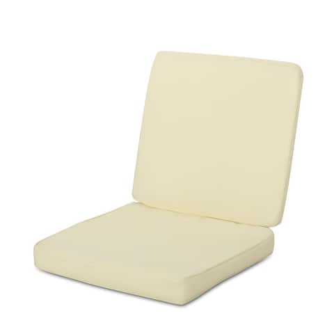 Coesse Outdoor Water Resistant Fabric Club Chair Cushions by Christopher Knight Home