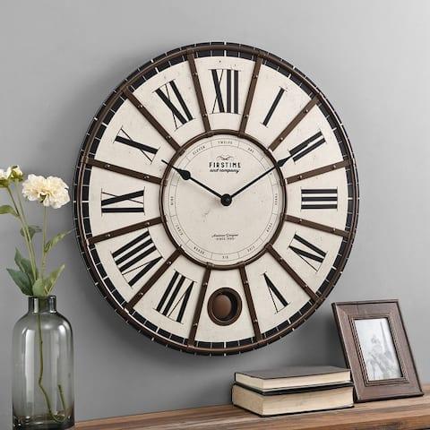 FirsTime & Co. Ellington Farmhouse Pendulum Clock