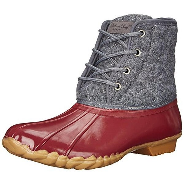 Western Chief Womens Four Eye Duck Snow Boots Wool Quilted