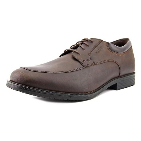 Rockport Essential Details Men Apron Toe Leather Brown Oxford