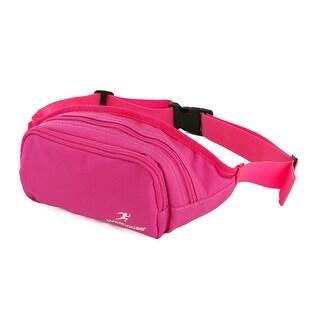 Wellhouse Authorized Hiking Keys Holder Adjustable Belt Sports Waist Bag Fuchsia