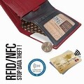 Ikepod Slim Carry Wallet (Red of 7 Colour) [Italy Made // Top Leather] [RFID Blocking and Slim Stitching!] - Thumbnail 3