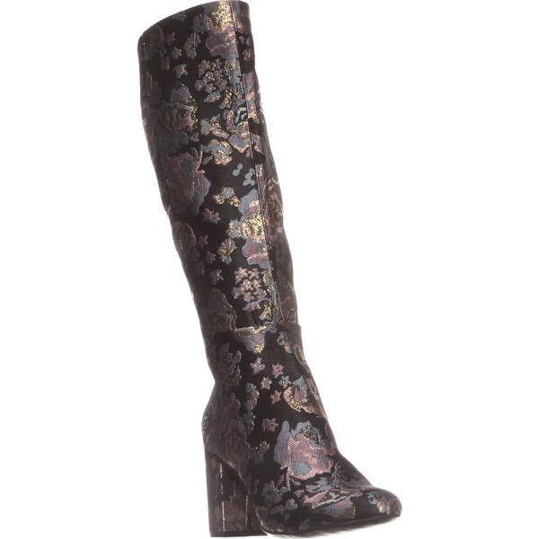 Kenneth Cole REACTION Time To Step Knee-High Boots, Black Multi