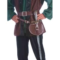 Medieval Belt And Sword Adult Costume Accessory - Brown