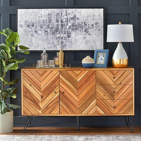 Lifestorey Alexandria Oak Finish 2-door 3-drawer Buffet
