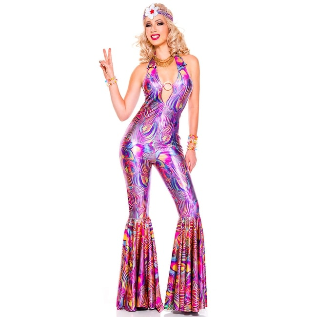New Music Legs 70593 Vintage Glam Hottie Costume